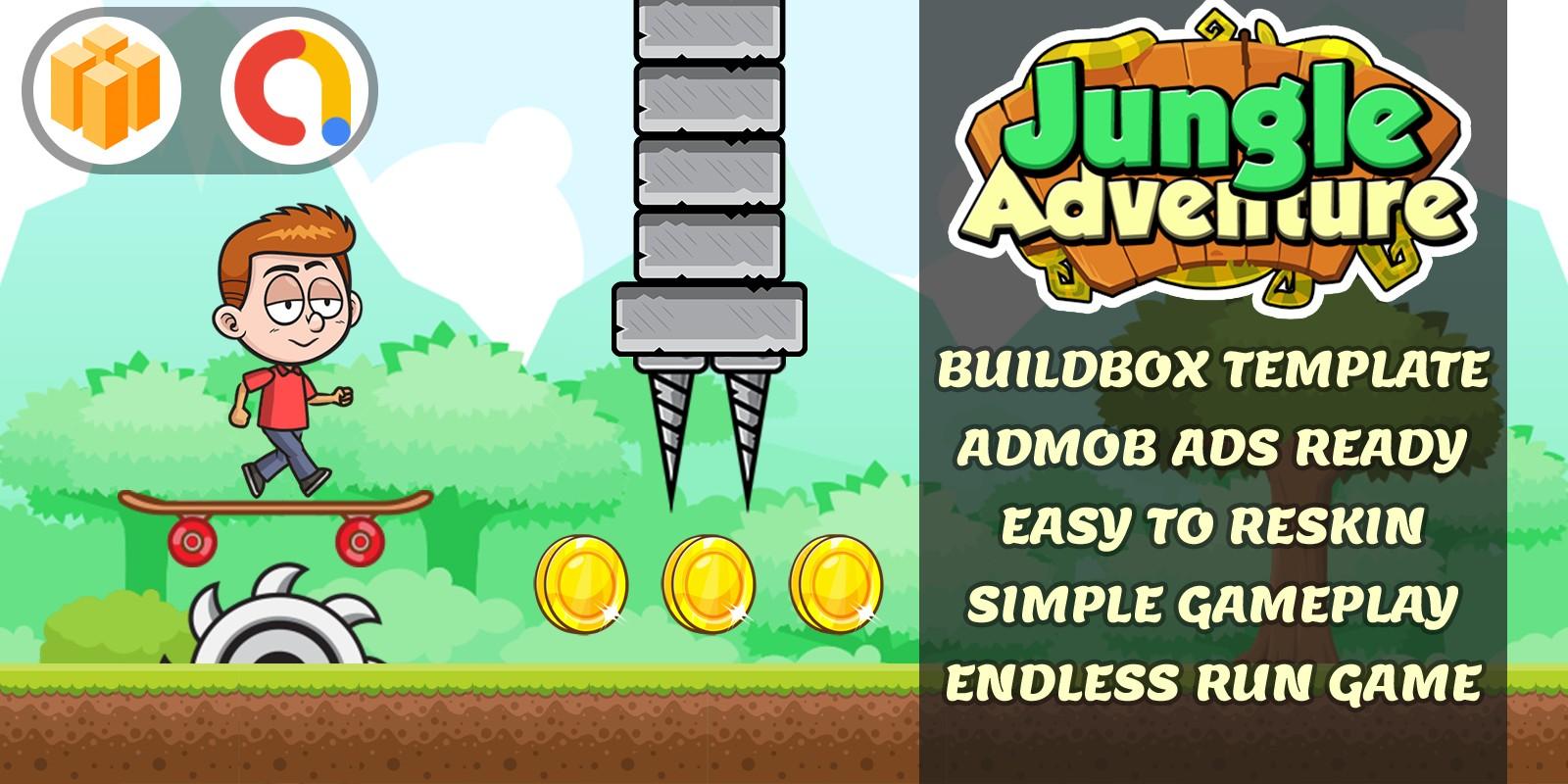 Super Boy Jungle Run -  Buildbox Template