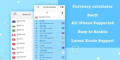 Currency Calculator - iOS Source Code