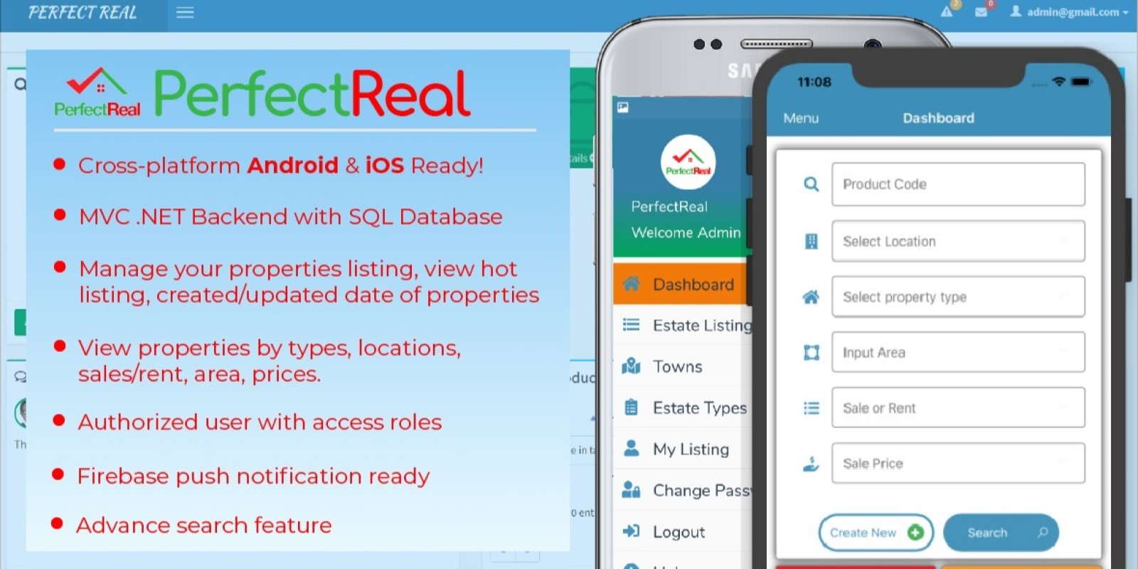 PerfectReal RealEstate Management App - Xamarin