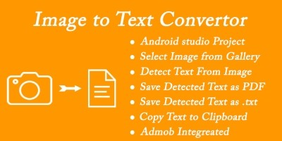 Image to Text - OCR Scanner Android App