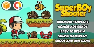 Super Boy Shoot And Run Buildbox Template BBDOC