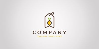 Lemon Tag Logo Template