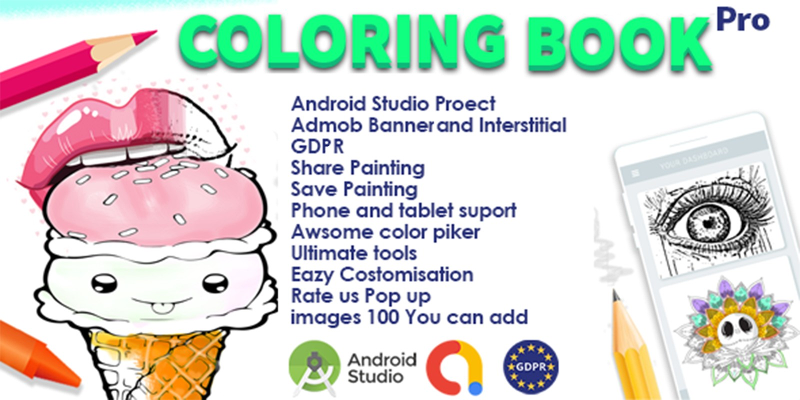 Pro Coloring Book and Drawing Tool Android