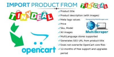 Import Product From Tinydeal - OpenCart Extension