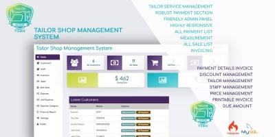 Tailor Shop Management System PHP