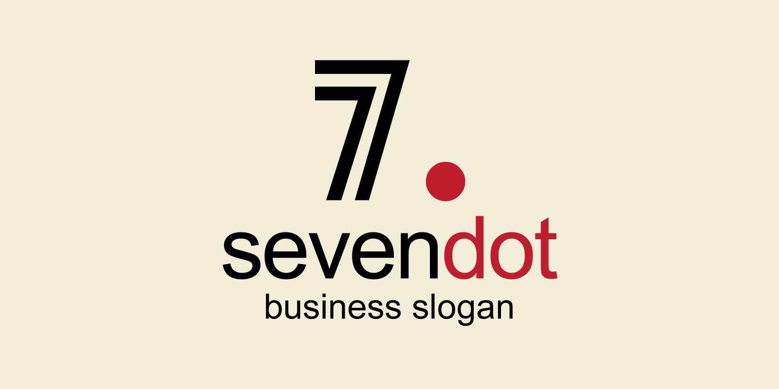 Sevendot Seven Number Logo