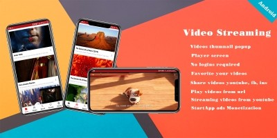 Videos and Stream - Android App Source Code