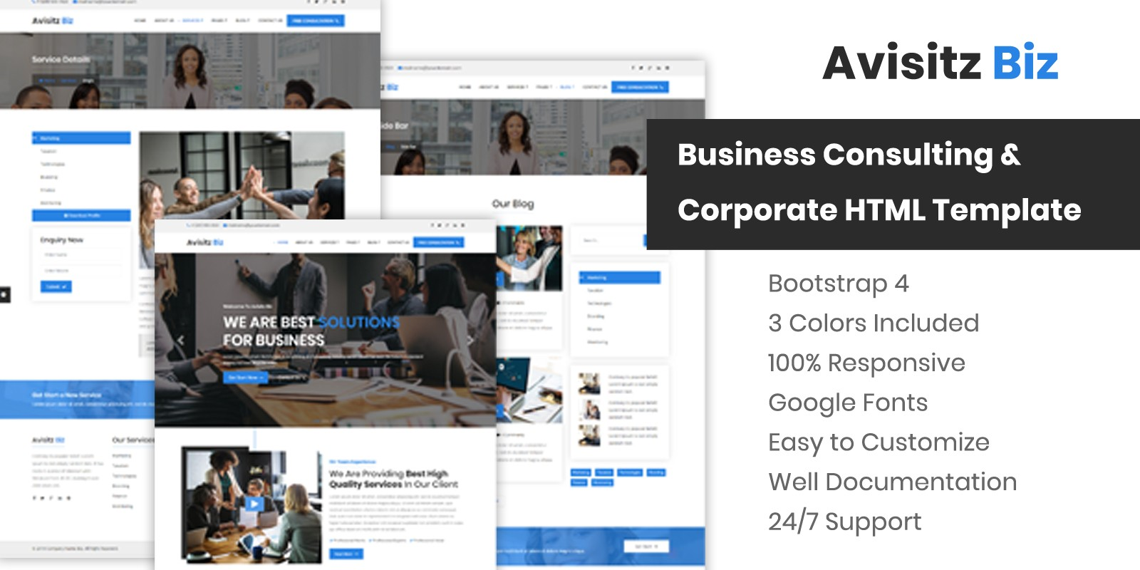 Avisitz Biz - Corporate Business HTML5 Template