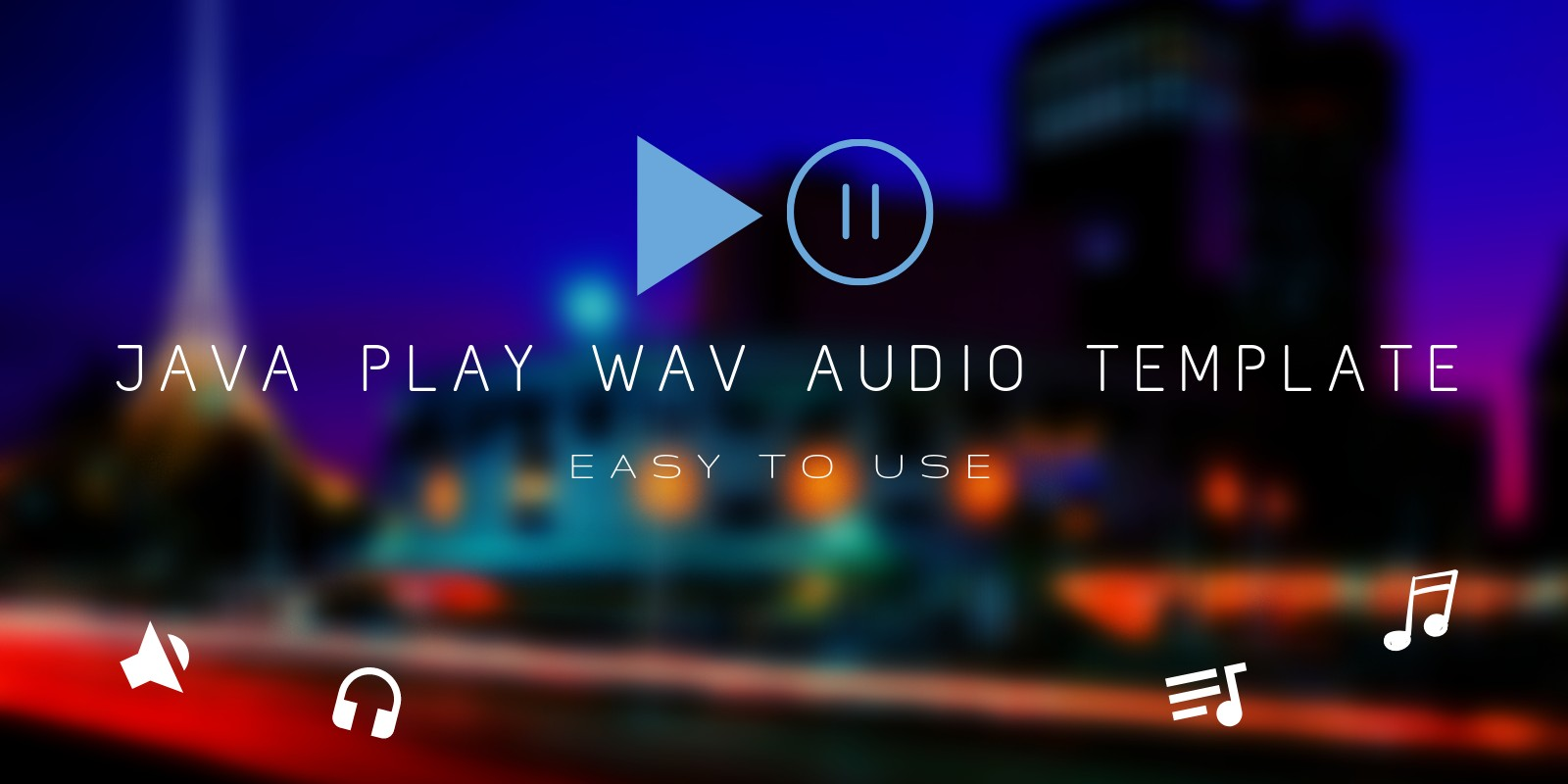 Java Audio Player Template