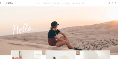 Milana - Personal WordPress Blog Theme