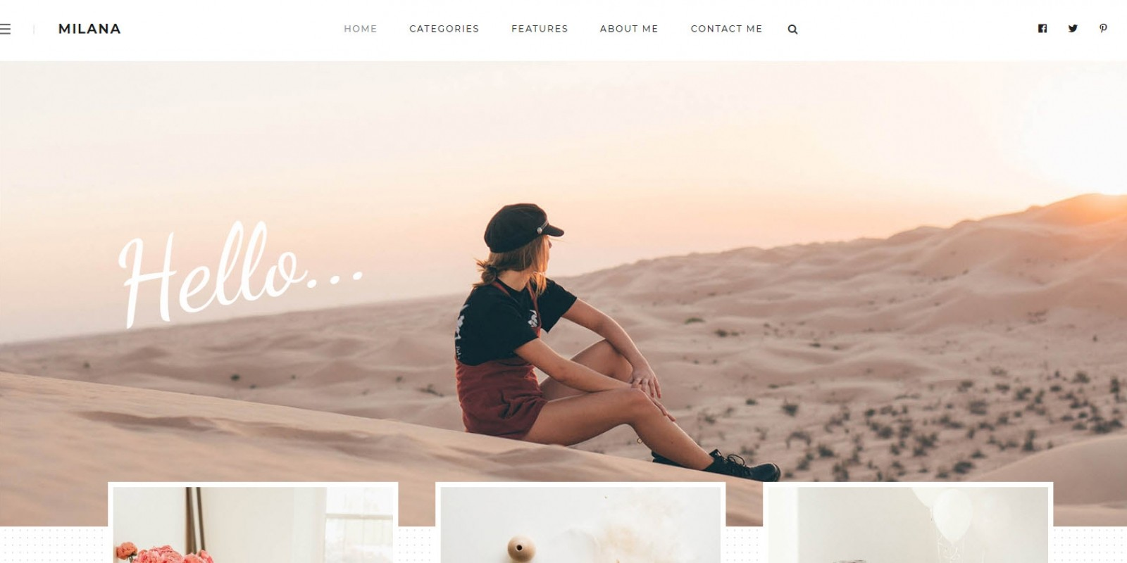 Milana - Personal WordPress Blog Theme