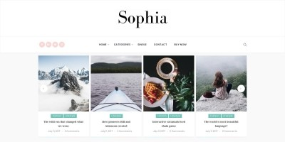 Sophia Personal WordPress Blog Theme