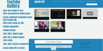 YouTube Video Gallery CMS Script