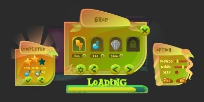 2D Game Plant Cartoon GUI