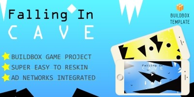 Falling In Cave - Buildbox Template
