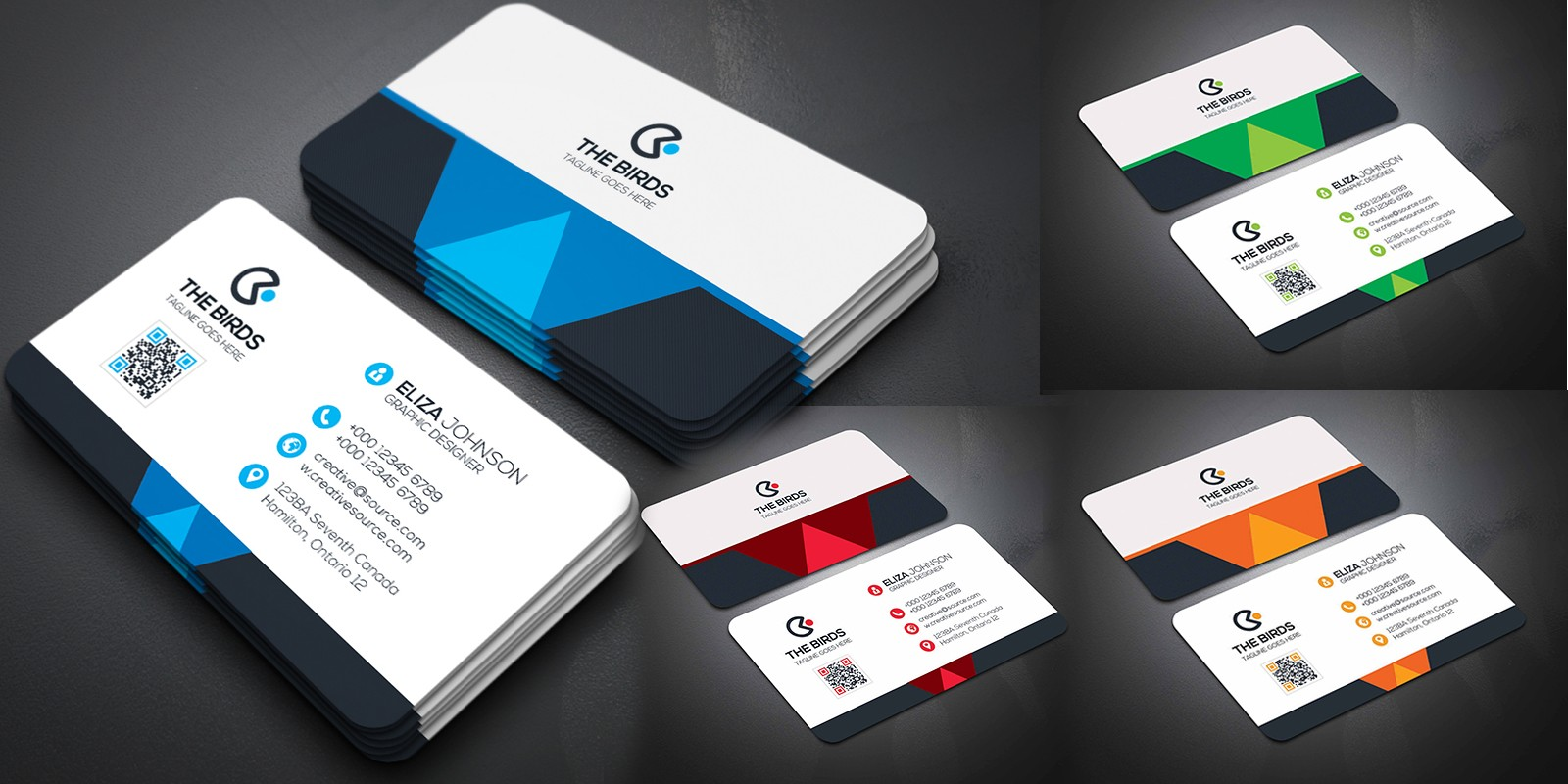 Corporate Business Card 4 color