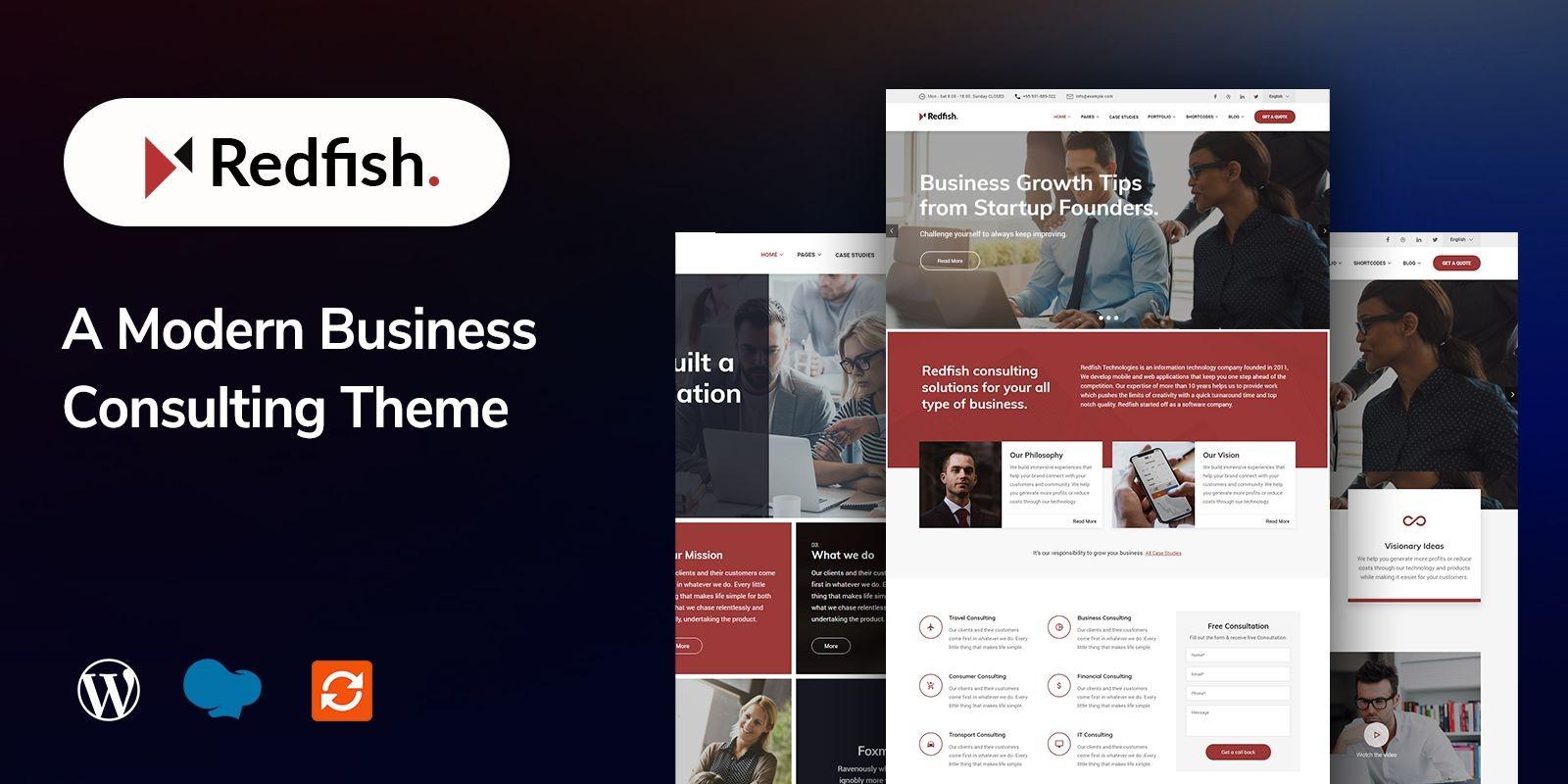 Redfish -Modern Business WordPress Theme