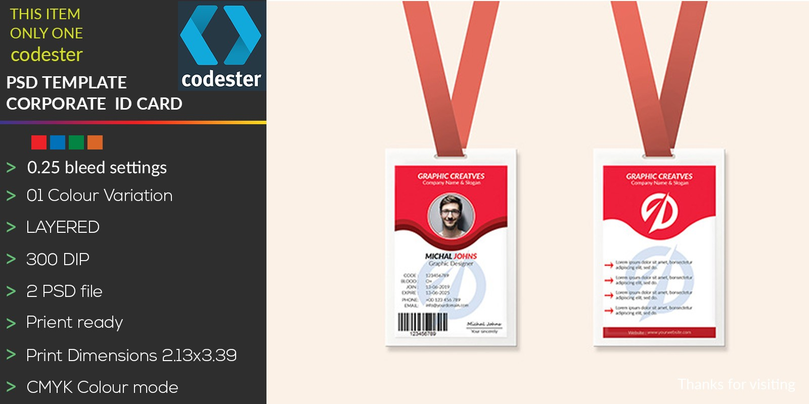 Simple Professional ID Card