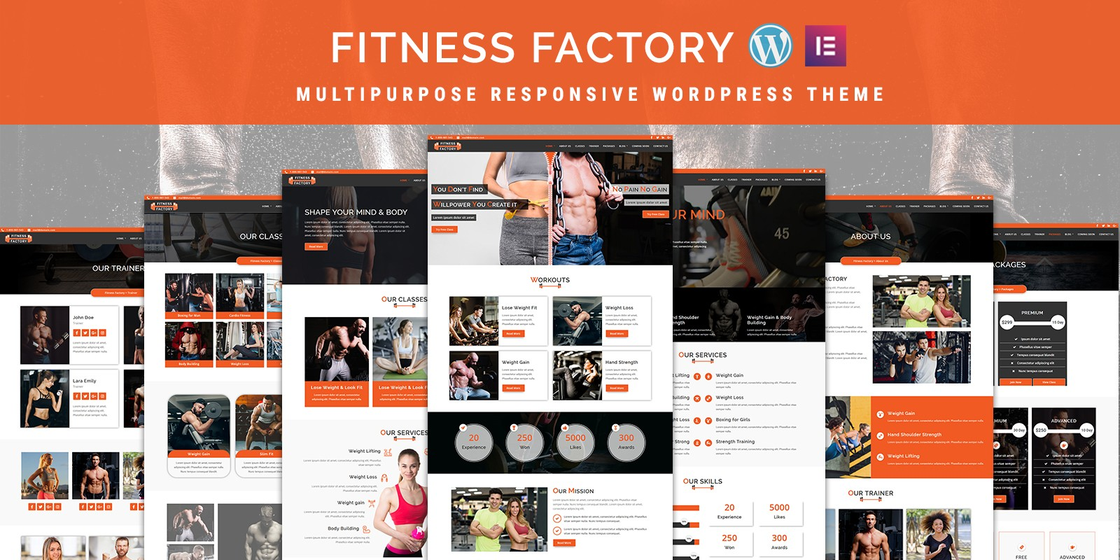 FitnessFactory - WordPress Theme