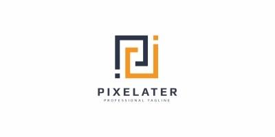 Pixelater P Letter Logo