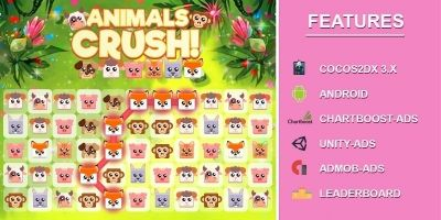 Animal Crush Match Three - Android Game