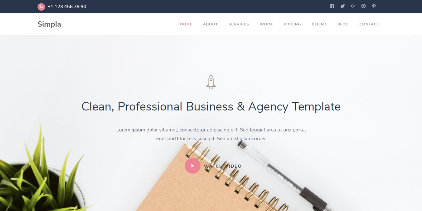 Simpla - Business And Agency Template