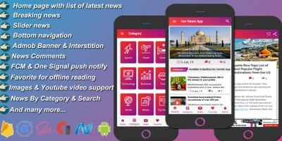 Ion News - A Ionic News App With Asp.Net Mvc