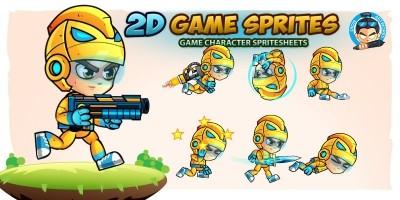 SpaceBoy 2D Game Sprites
