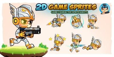 Eagle Warrior 2D Game Sprites