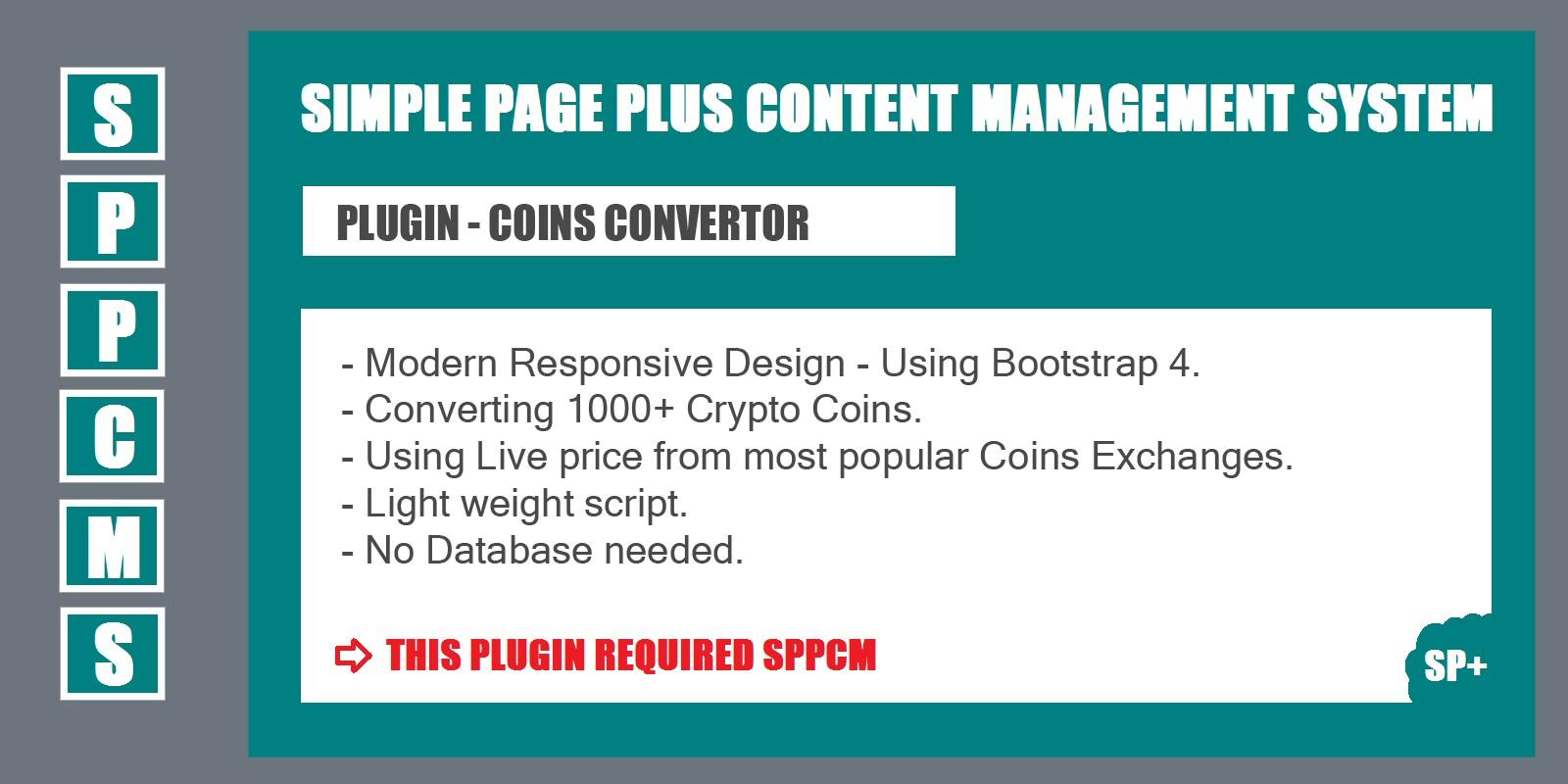 Coins Convertor - SPPCMS Plugin