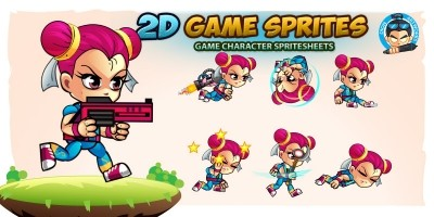 Kim 2D Game Charcter Sprites