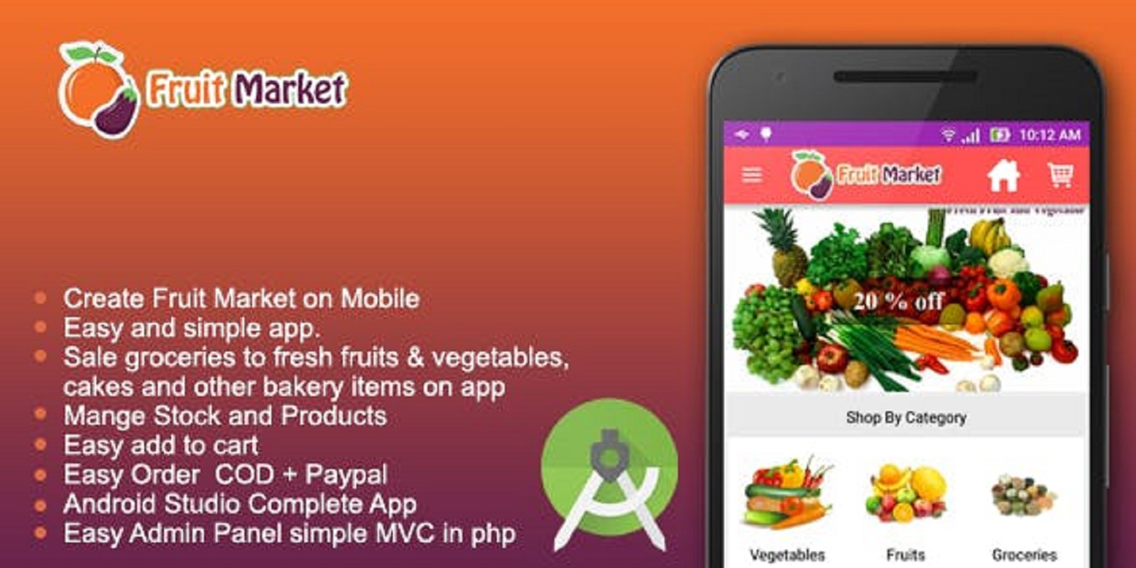 Fruit Market - Android Source Code
