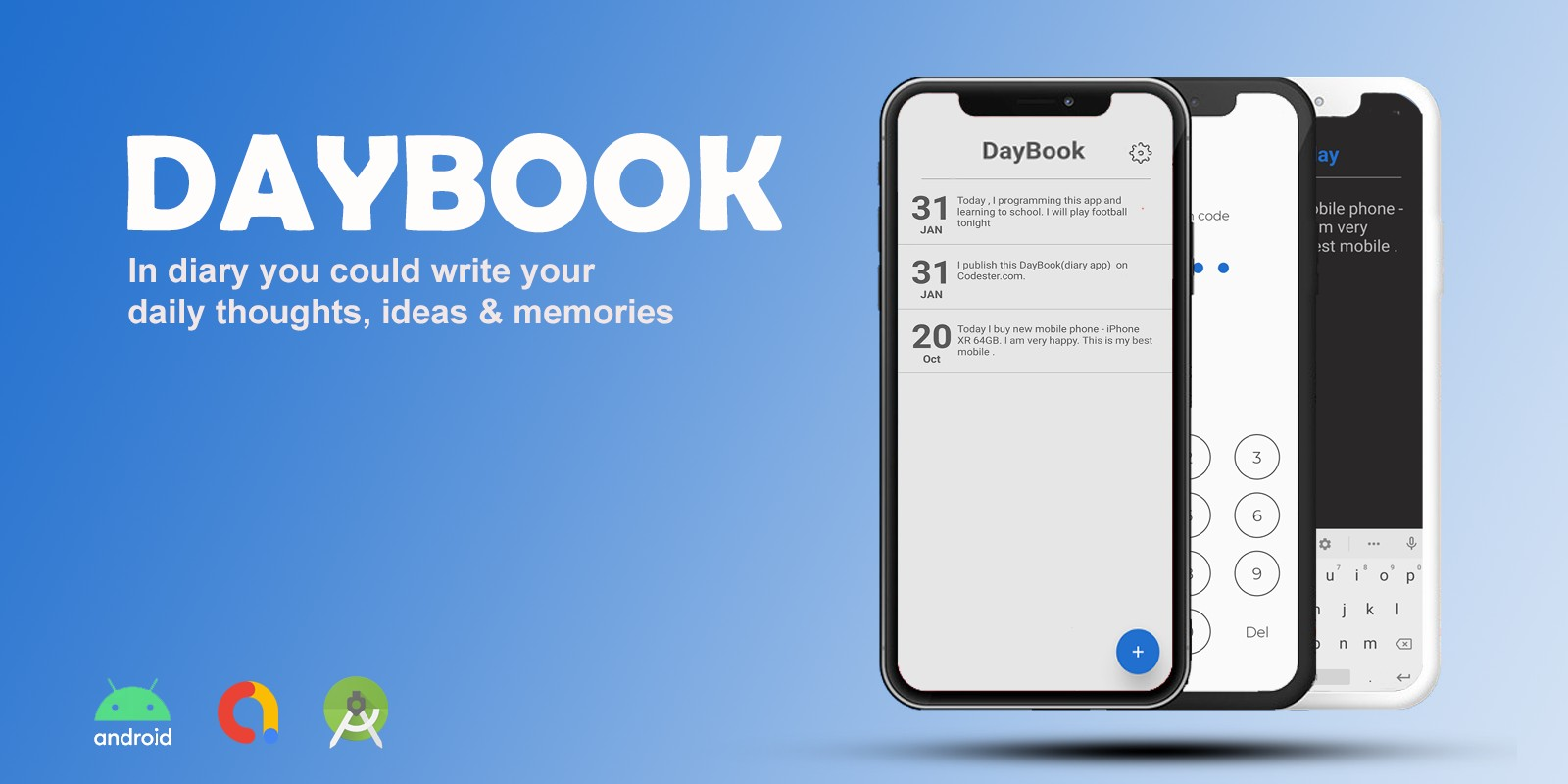 DayBook - Minimal Diary App Android