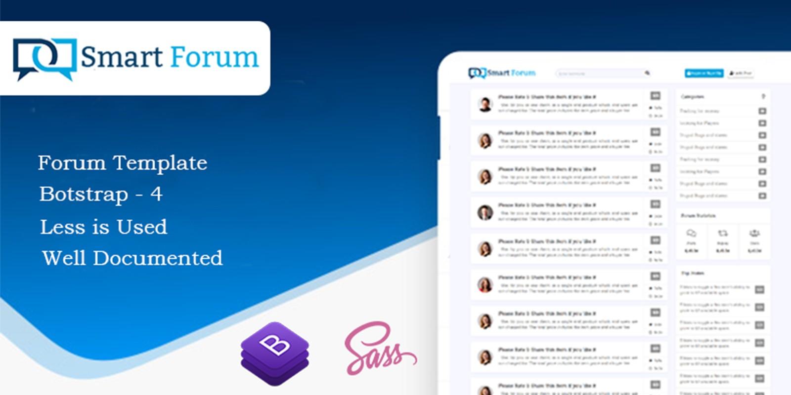 Forum HTML Website Template