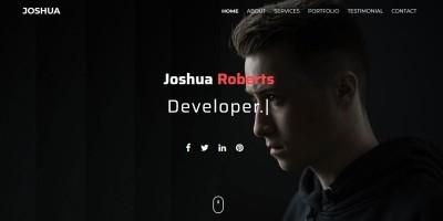 Joshua - One Page Portfolio HTML Template