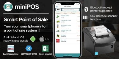 miniPOS - Mobile Point of Sale Application Xamarin