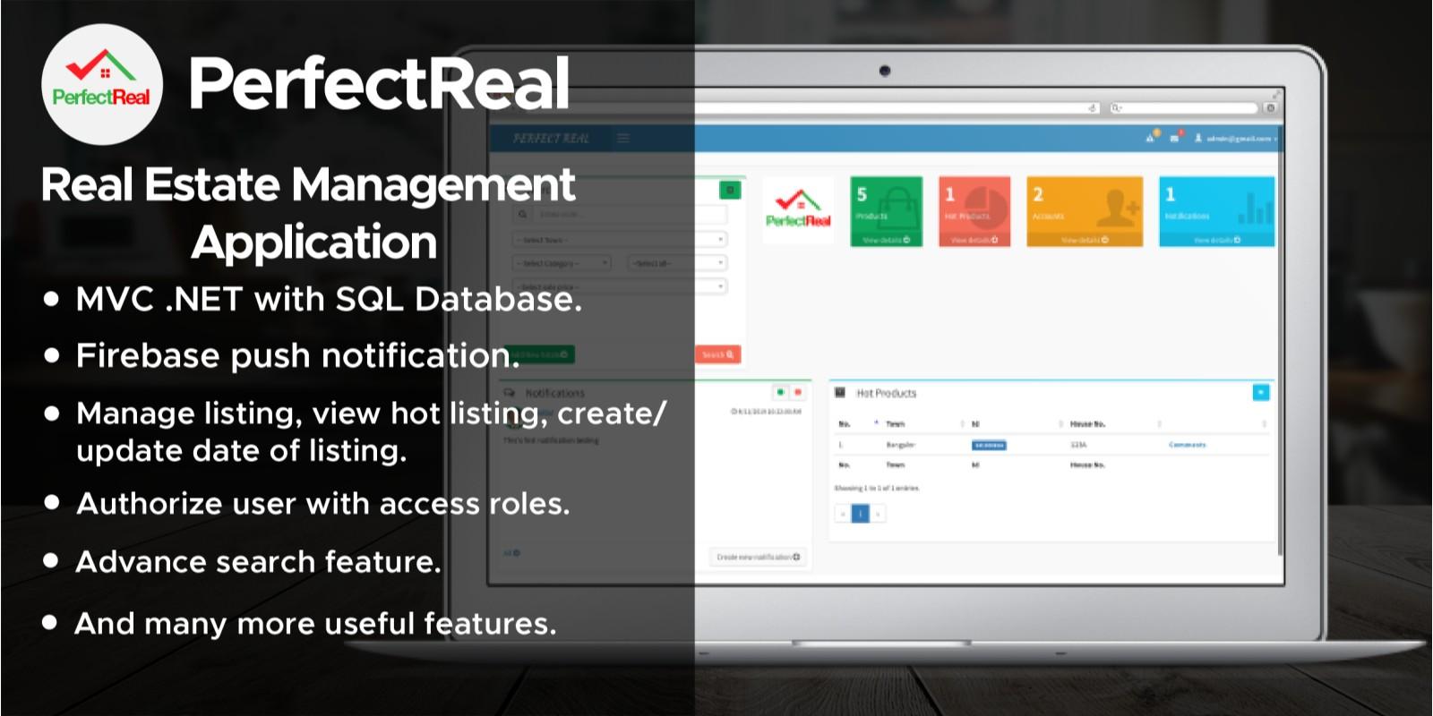 RealEstate Management Web Application .NET