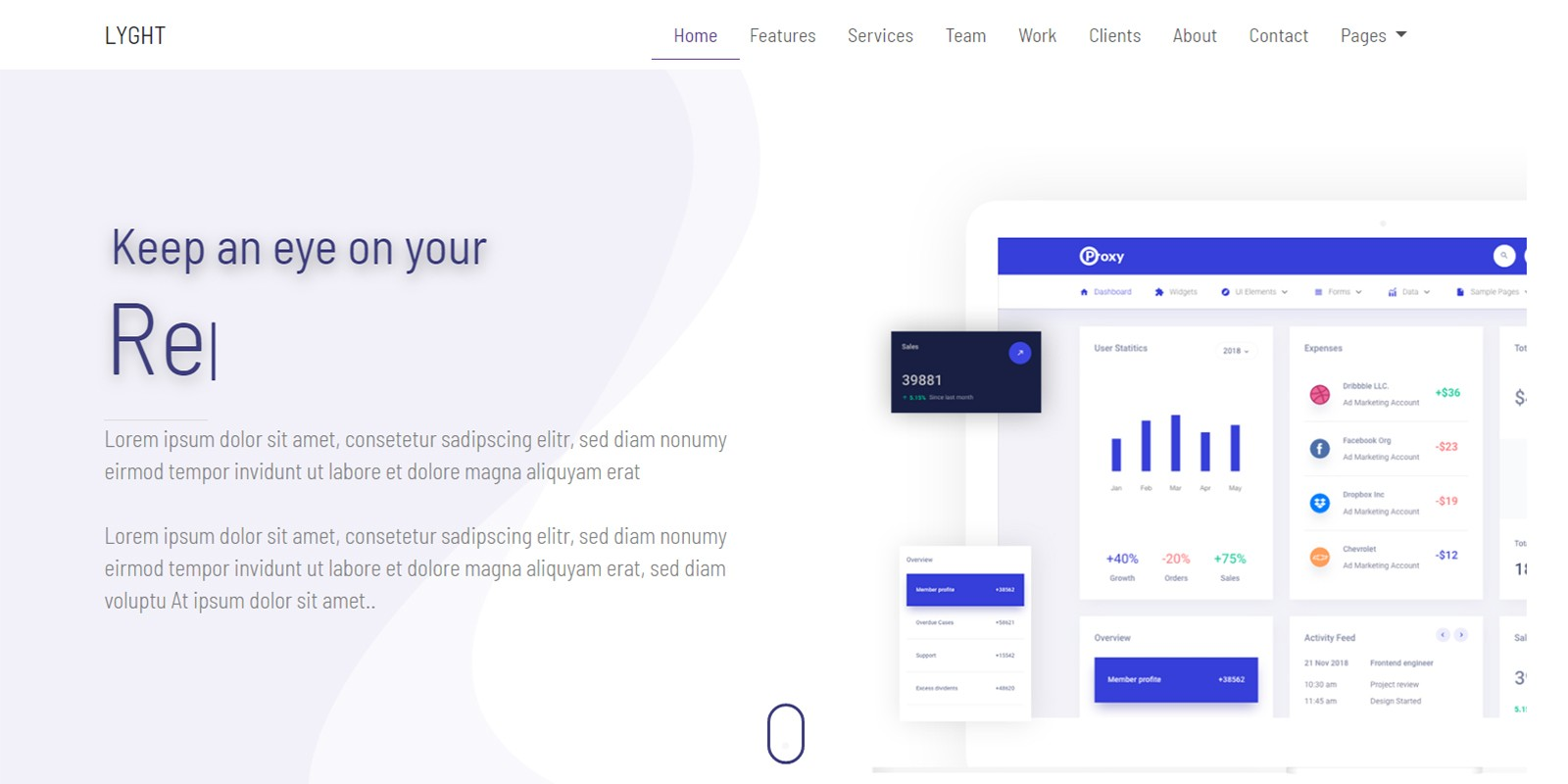 Lyght - Bootstrap Multipurpose Landing Page