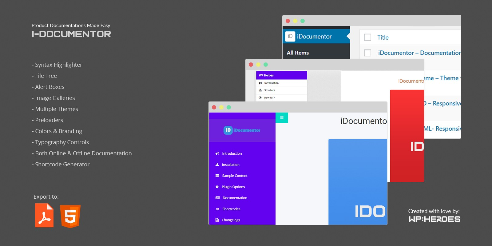 iDocumentor WordPress Plugin