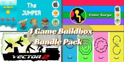 4 Premium Buildbox Game Templates