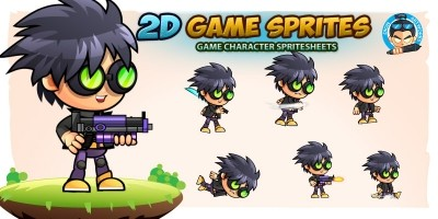 Jeepoy 2D Game Character Sprites