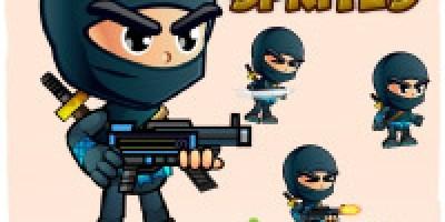Ninja 2D Game Character Sprites