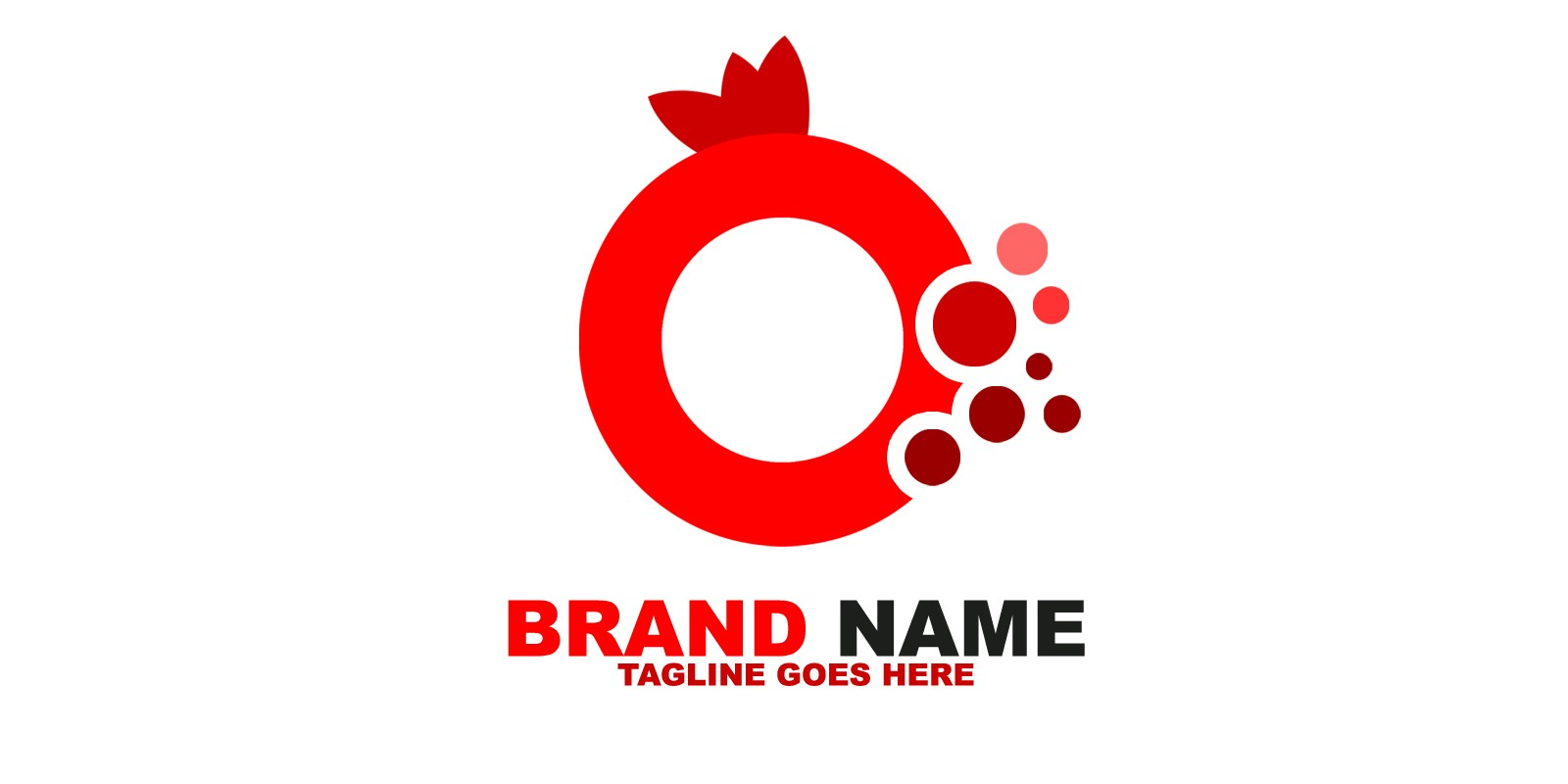 Pomegranate Logo Template