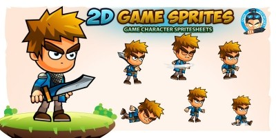 Knight 2D Game Character Sprites