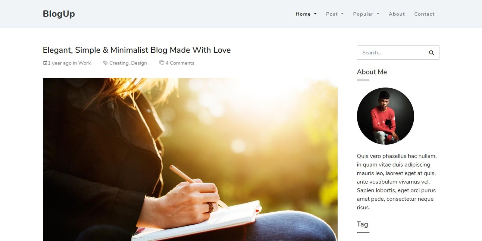 Blogup - HTML Template