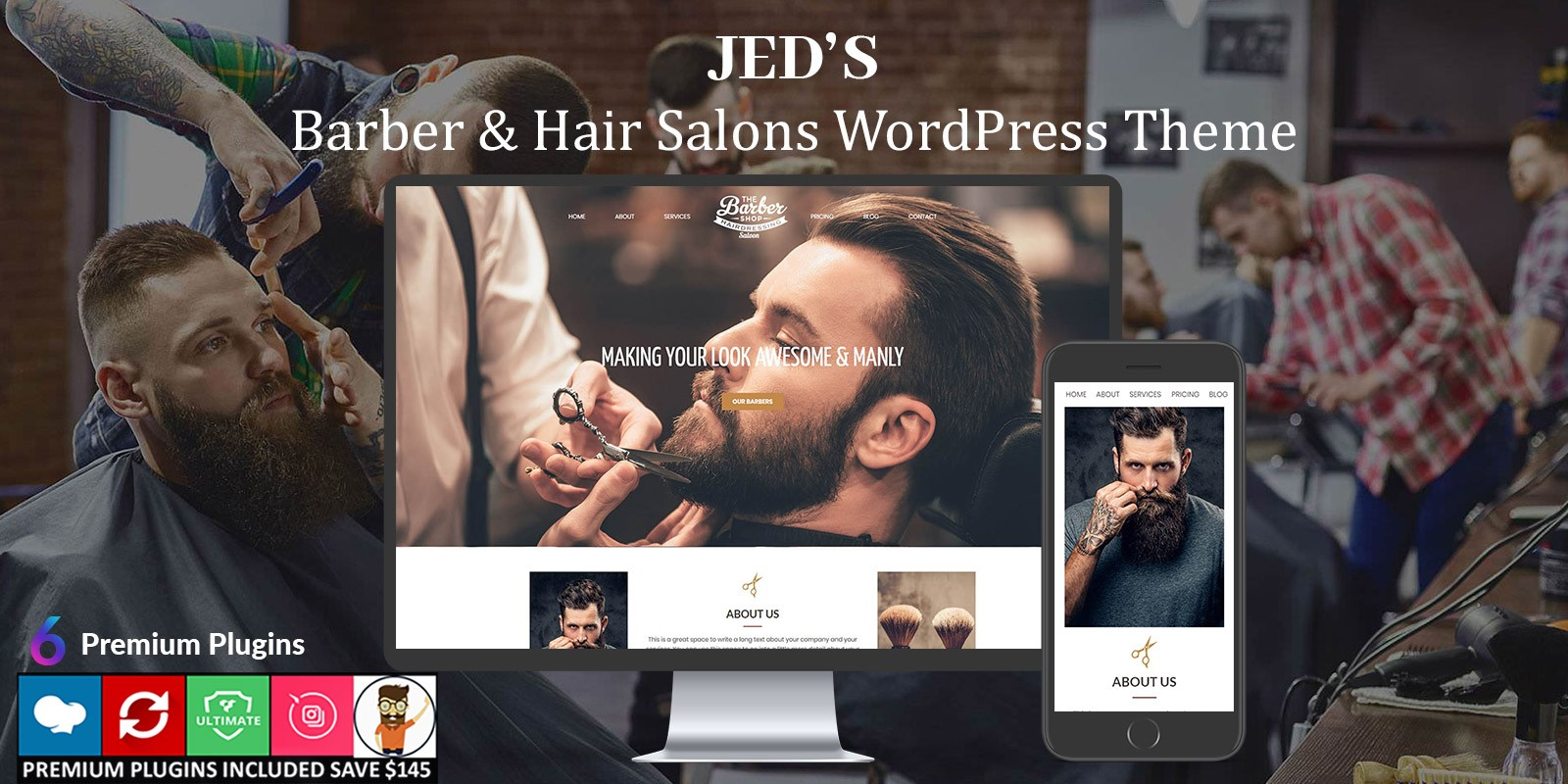 Jeds – Barber And Hair Salon WordPress Theme