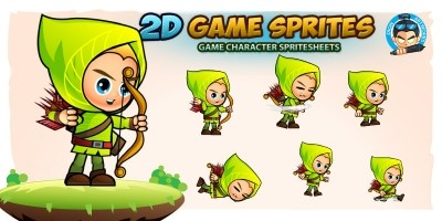 Archer 2D Game Character Sprites