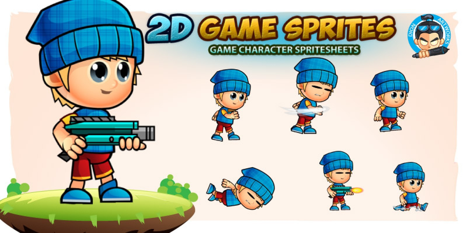 Lyndon 2D Game Character Sprites