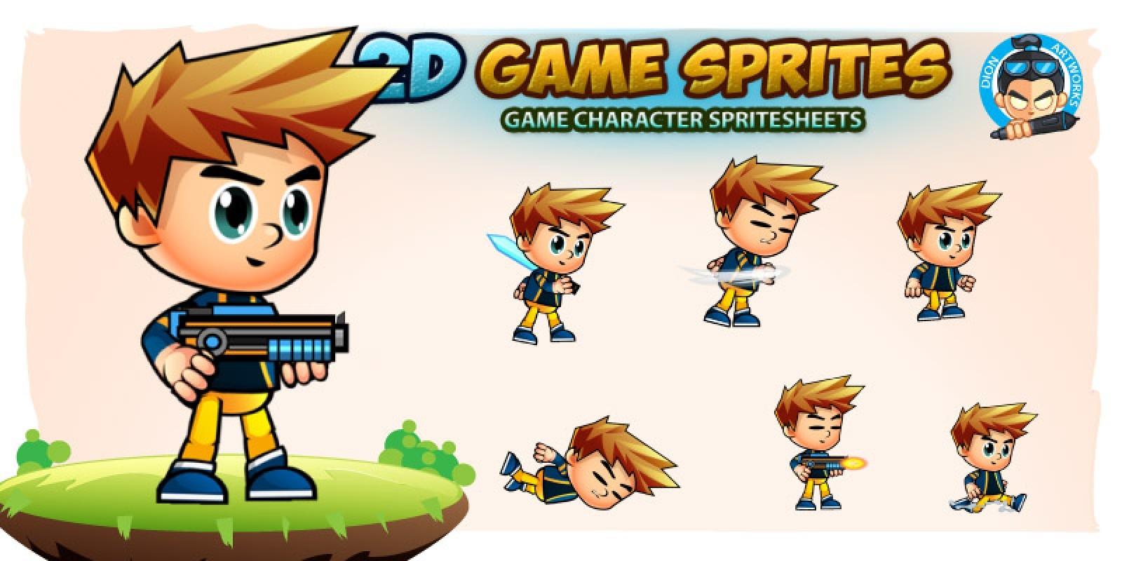 Liam 2D Game Sprites