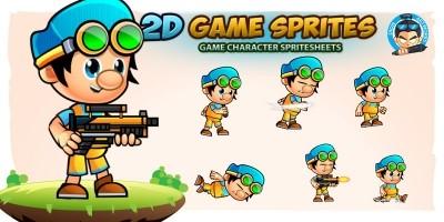 Ken 2D Game Character Sprites